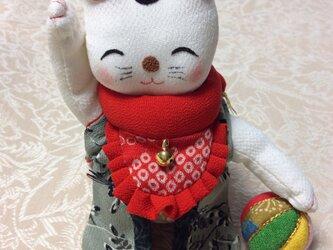 ♪ちゃんちゃんこを着た招き猫の画像
