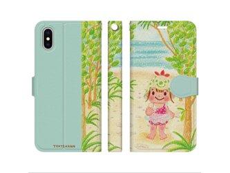 海へ続く道 iPhone手帳型ケースno.100の画像