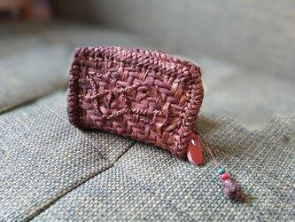 山葡萄の蔓で編んだ『カードケース+ストラップ付』②の画像