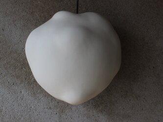 雲 壁掛け花器 丸 大 オブジェ 陶 花瓶 壁インテリア cloudの画像