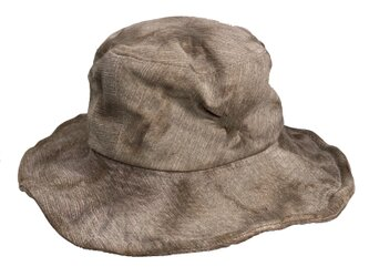 Line leather bucket hatの画像