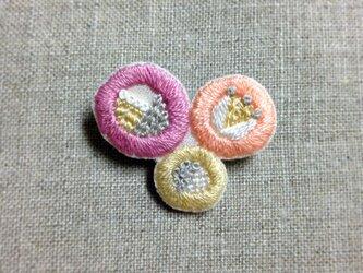 春のひかりブローチ(pink)の画像