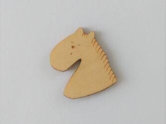すなおな馬・メイプルのブローチの画像
