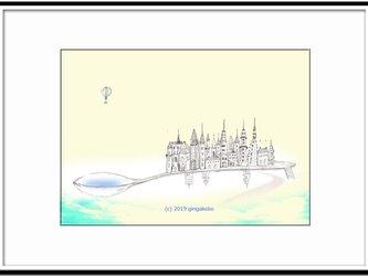 「空想街図Ⅱ」 ほっこり癒しのイラストA4サイズポスターNo.628の画像