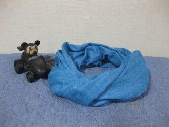 ダブルガーゼスヌード《デニム風ブルー・一重》の画像