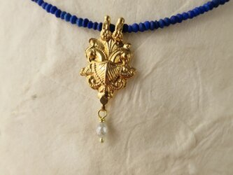 K18 Lapis lazuli ・Gold parts Pendant Necklaceの画像