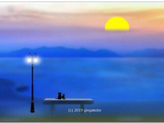 「静かに過ごしたい日」 ほっこり癒しのイラストポストカード2枚組No.715の画像