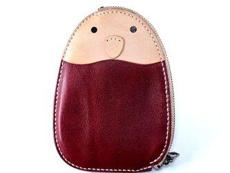 ことりのポケット財布(ワイン)の画像