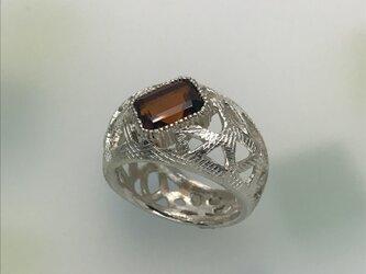 SVシトリンリング 建物の鉄骨をイメージした指輪の画像