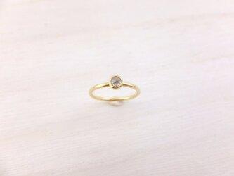 【K18】ラフダイヤリングの画像