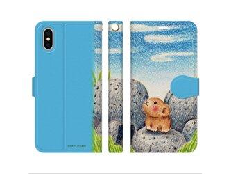 ナキウサギと十勝石 iPhone手帳型ケースno.183の画像
