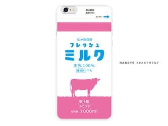 iphoneXR ケース フレッシュミルク ピンク スマホケースの画像