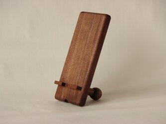木製スマホスタンド1 ブラックウォールナットの画像