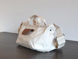 ショルダーバッグ 2way/生成・パラフィン帆布×牛革の画像