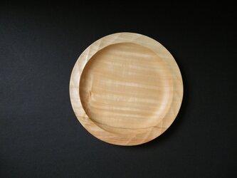 木彫り お皿 トチノキの画像