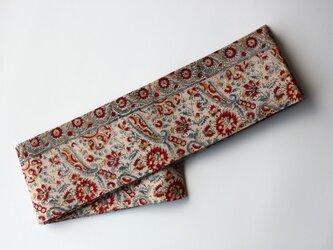 アジア布 型染め木綿の半幅帯の画像