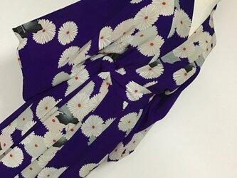 0303    着物リメイク    フリーサイズ    ローブ    錦紗    菊模様の画像