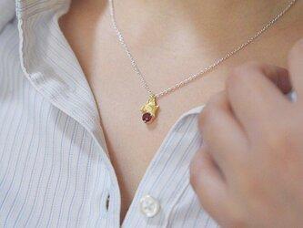 フラクタル  シルバー・真鍮ネックレスの画像