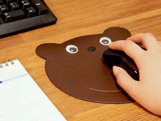 クマさん カエルさん マウスパッド (MSPAD) 日本製 国産素材【納期5~20日】の画像