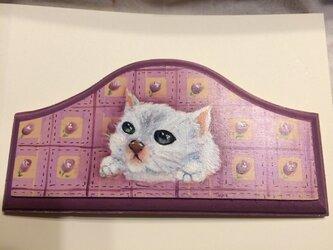 子猫とパッチワークの画像