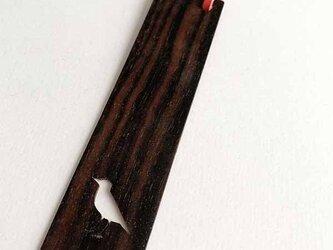 黒檀の Book Marker *とり*の画像