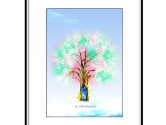 「今年も咲いてくれて、ありがと^^」 ほっこり癒しのイラストA4サイズポスターNo.629の画像
