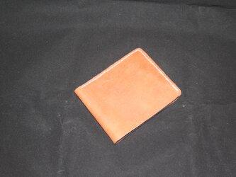 国産本革 二つ折り財布の画像