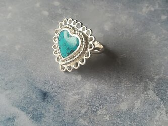 【一点物】Heart Turquoise Ringの画像