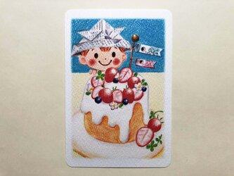 こどもの日ケーキ ポストカードno.170の画像