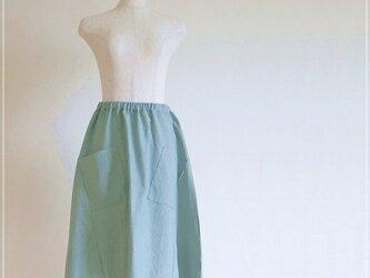 ソフトデニム ヘムライン バルーンスカート+リバティの画像