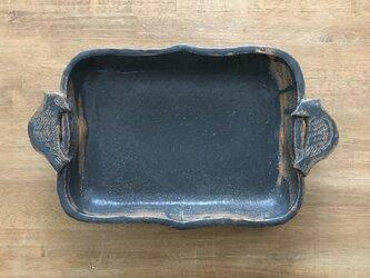 とりの取手がついた耐熱皿の画像