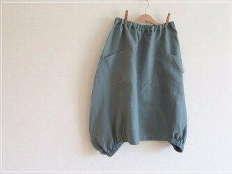 blue green* リネン ヘムライン バルーンスカートの画像