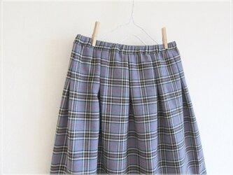タータンチェック* すっきりギャザースカートの画像
