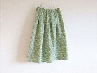 green* 北欧風 森のWガーゼギャザースカートの画像