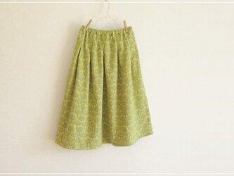 yellow* 北欧風 森のWガーゼギャザースカートの画像
