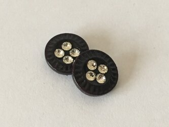 vintage button pieced earrings #02の画像