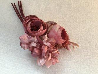 丸薔薇と紫陽花の画像