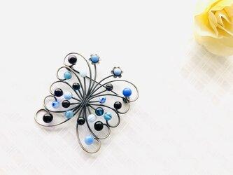 【送料無料】ブローチ・Papillon(ブルー)の画像