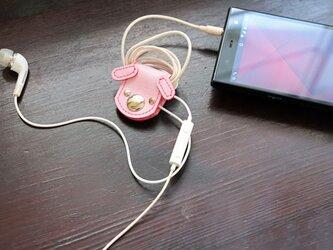 ワンコのコードホルダー:ピンクの画像