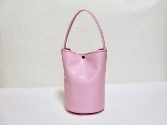桜色の丸底バッグ(ワンハンドル)の画像