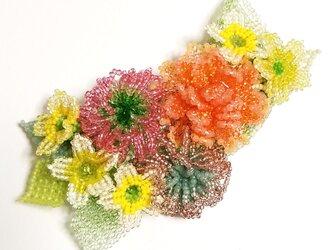 バレッタ Bouquet  (ピンクポンポン)の画像
