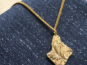 フラクタル エングレービングネックレスの画像