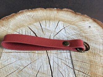 Key fob キーホルダー 赤 一つのお値段ですの画像