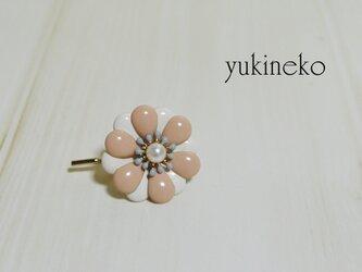 春花 ポニーフック(ピンク白)の画像