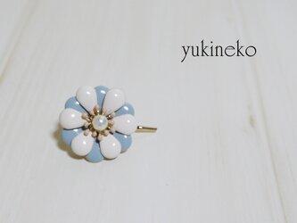 春花 ポニーフック(ブルー白)の画像