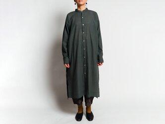 カディコットン ユニセックスロングシャツ Dark grayの画像