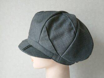 魅せる帽子☆ピンタックが素敵♪ふんわり!サマーウールのキャスケット~モノトーンの画像