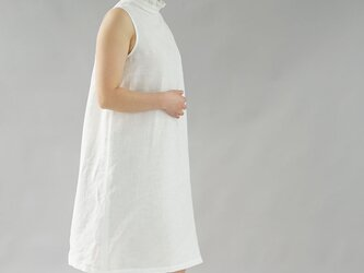 【wafu】薄地 雅亜麻 リネン フリル ワンピース やさしい インナー ドレス ペチワンピース / 白色 p009a-wht1の画像