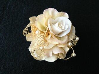 rose mellia corsage (beige)の画像