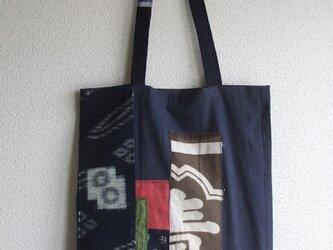 絣のトートバッグの画像